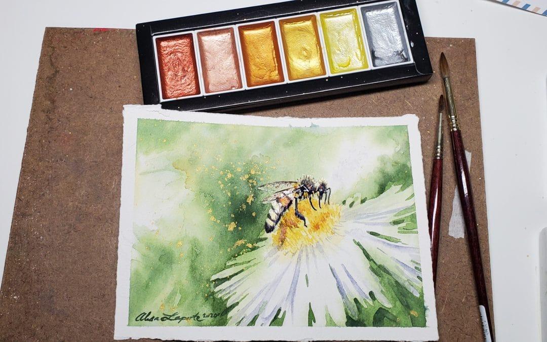 Komorebi Metallic Watercolors Review and Demo: Part 2