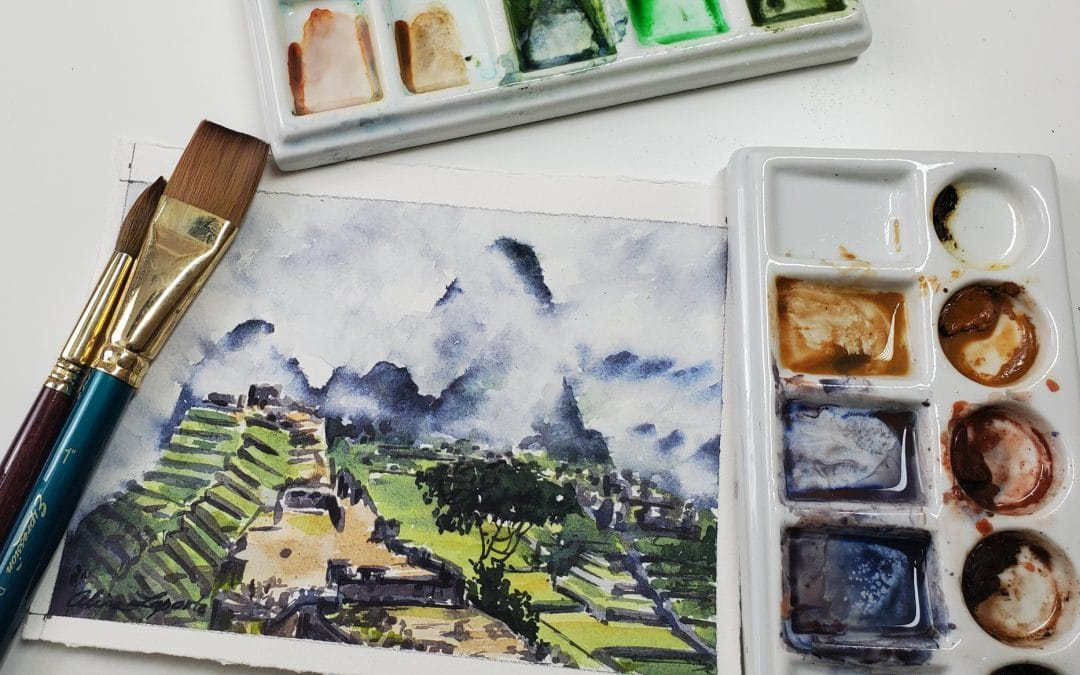 How to create fog/mist in watercolors