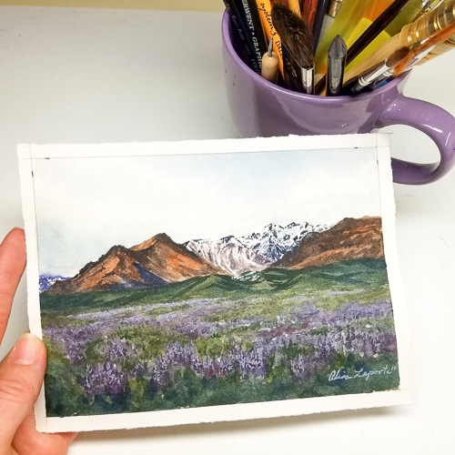 Lavender Mountains Set