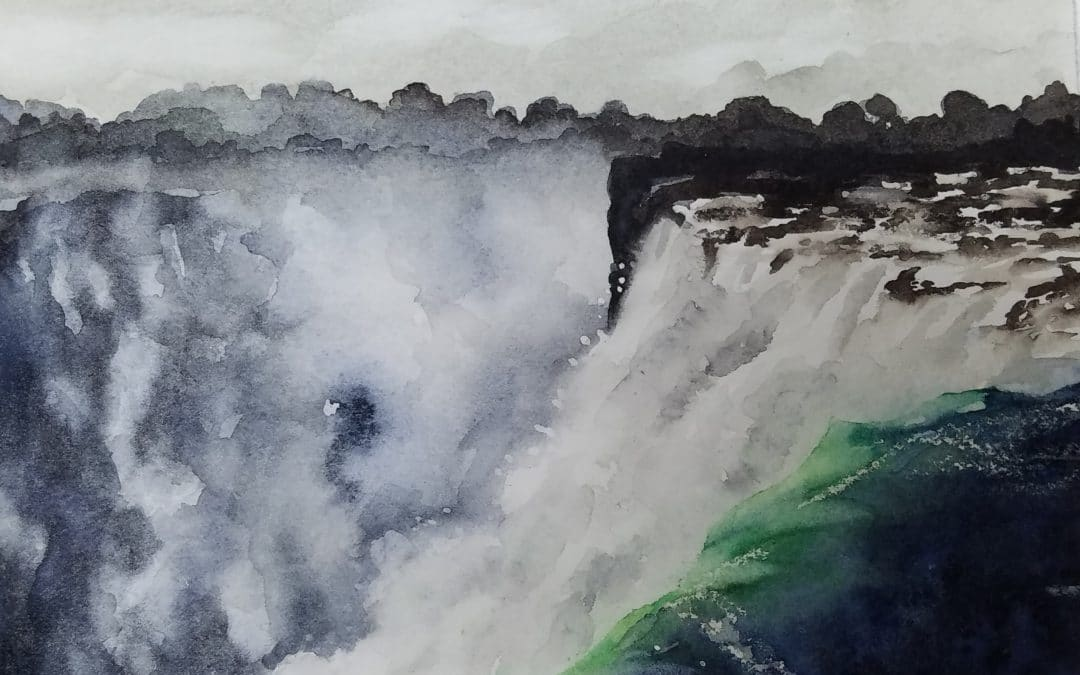 Leaving whites in watercolors tutorial