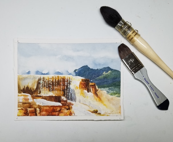 Mammoth Hot Springs setup